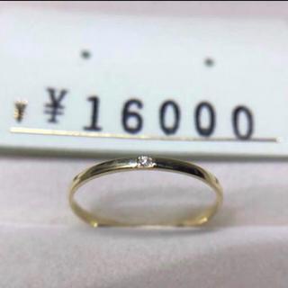 .  新品 k18  2号  ピンキーダイヤモンドリング  プレゼントにも(リング(指輪))