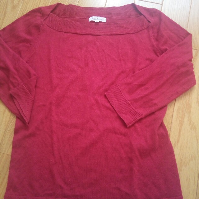 Rope' Picnic(ロペピクニック)のロペ 赤ニット レディースのトップス(ニット/セーター)の商品写真