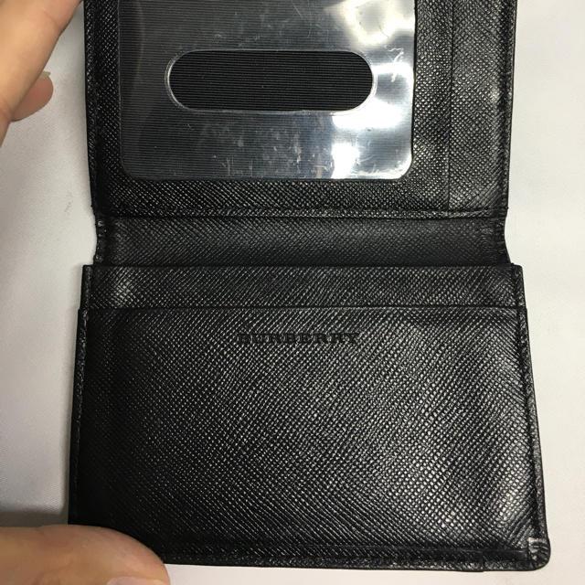 BURBERRY(バーバリー)のバーバリー 定期入れ チェック ブラック メンズのファッション小物(名刺入れ/定期入れ)の商品写真