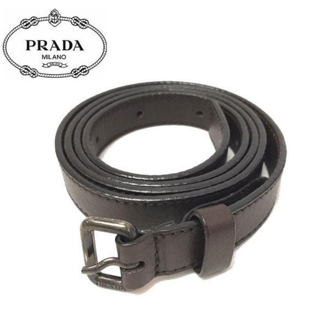 PRADA(プラダ)のプラダ ベルト レザー ダークブラウン(A0049H2-1) レディースのファッション小物(ベルト)の商品写真