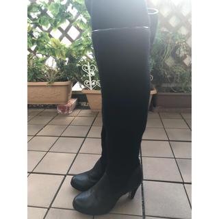 オゥバニスター(AU BANNISTER)のAUBANNISTER 黒 ブーツ(ブーツ)