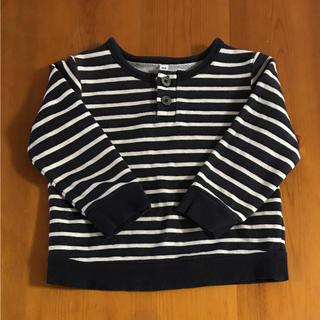 ムジルシリョウヒン(MUJI (無印良品))のボーダートレーナー(Tシャツ/カットソー)