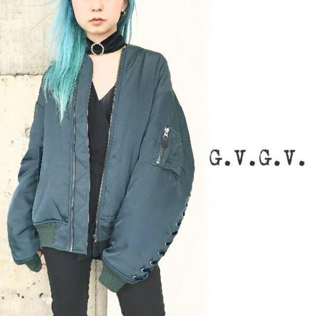 G.V.G.V.(ジーヴィジーヴィ)の【さく様専用】   G.V.G.V. LACE UP MA-1 レディースのジャケット/アウター(ブルゾン)の商品写真