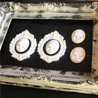 DIYやドールハウスの装飾にアンティークフレーム・カメオセット(インテリア雑貨)
