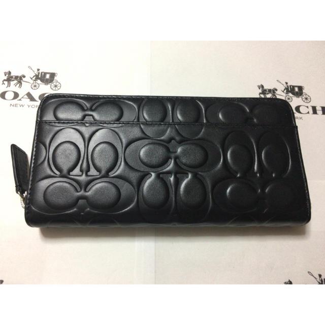 new product b43f4 4f4e7 売り切り価格★コーチ シグネチャー レザー長財布 F74529 ブラック | フリマアプリ ラクマ