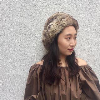 カスタネ(Kastane)の美品♡Kastane フェイクファー帽(その他)