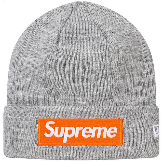 Supreme(シュプリーム)のグレー Supreme New Era Box Logo Beanie メンズの帽子(その他)の商品写真