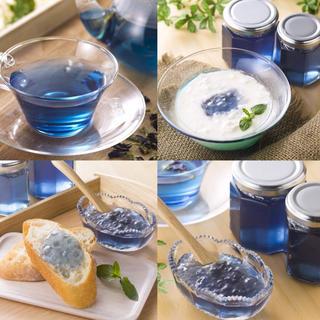 ✩⃛ೄSNSで話題の青い森の天然青色りんごジャム&天然赤色ルビージャムのセット♡(缶詰/瓶詰)