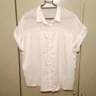 ジーユー(GU)のシースルーシャツ☆(シャツ/ブラウス(半袖/袖なし))