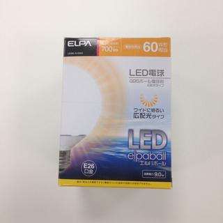 エルパ 60W相当 LDG9L-G-G203 ボール電球形 LED (*新品)