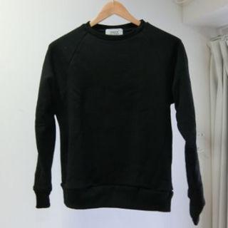 ヤエカ(YAECA)のYAECA SWEAT BLACK size:S ラグランスリーブ(スウェット)