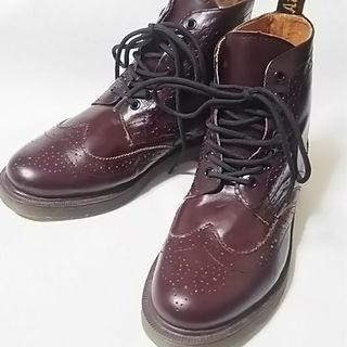ドクターマーチン(Dr.Martens)の最高傑作美品!マーチン高級レザーウィングチップブーツ赤茶人気の限定モデル!(ブーツ)