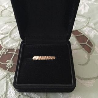 みかりん様専用  18Kハーフエタニティダイヤモンドリング 大きいサイズ(リング(指輪))