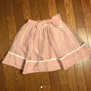 リズリサ(LIZ LISA)のリズリサ  オーガンジー素材 スカート 美品(ひざ丈スカート)