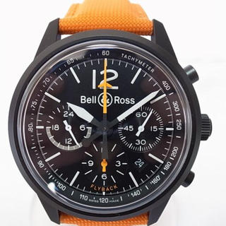 ベルアンドロス(Bell & Ross)のベル&ロス ブラックバード フライバック クロノ 500本限定(腕時計(アナログ))
