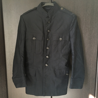 6153548b996c グッチ(Gucci)のGUCCI グッチ ジャケット コート ブラック(ミリタリージャケット)