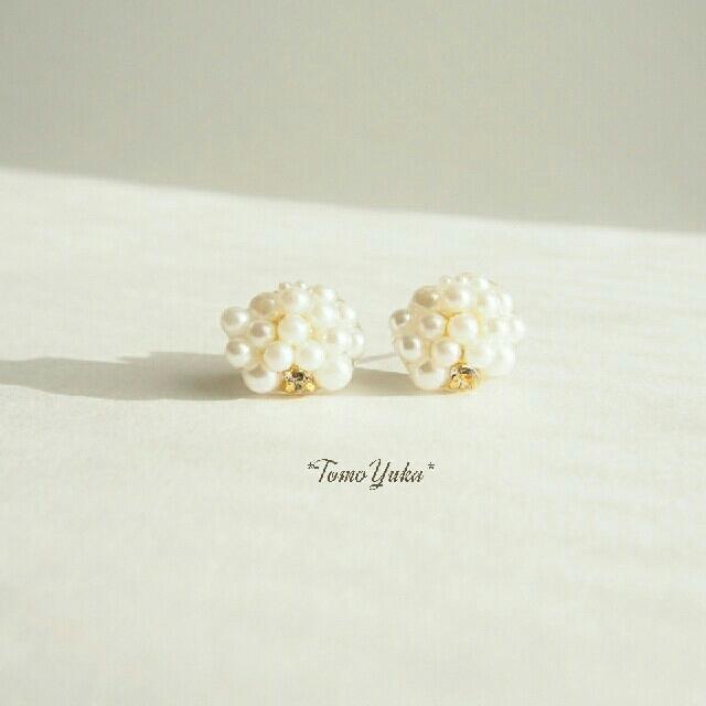 【*TY*】Pearls Pierce ハンドメイドのアクセサリー(ピアス)の商品写真