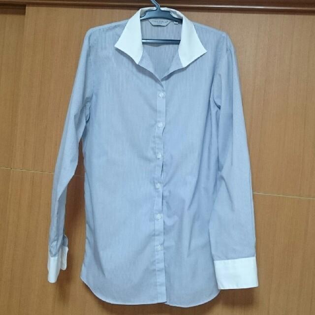 しまむら(シマムラ)のワイシャツ*ブルー細縞 レディースのトップス(シャツ/ブラウス(長袖/七分))の商品写真
