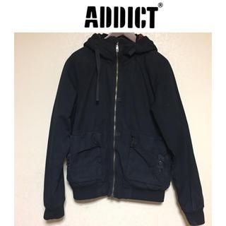 《ADDICT》中綿ハーフコート ブルゾン