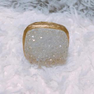 レイビームス(Ray BEAMS)のクリスタルリング(リング(指輪))