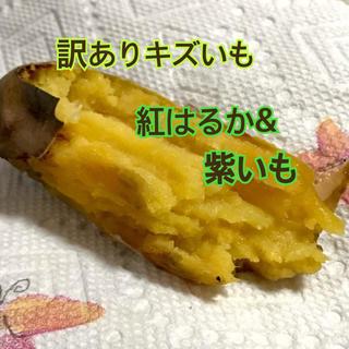 訳あり傷芋2品種 2.7キロ 紅はるか&紫芋(野菜)