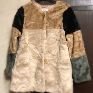 ザラキッズ(ZARA KIDS)のお値下げ 美品 ZARA kidsファーコート♡ (毛皮/ファーコート)