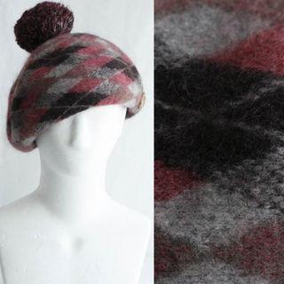 ヴィヴィアンウエストウッド(Vivienne Westwood)のヴィヴィアン ベレー 帽子 サイズ調整 モヘア混 ぼんぼり SALE(その他)