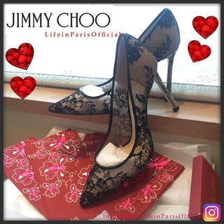 ジミーチュウ(JIMMY CHOO)の新品未使用 Jimmy Choo Romy 10cmヒール ブラックレース(ハイヒール/パンプス)