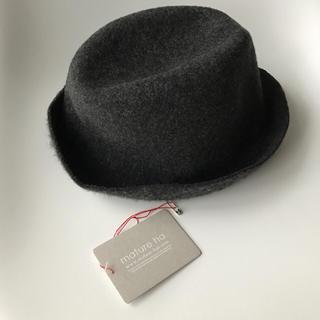 カシラ(CA4LA)のmature ha. マチュアーハ 帽子 ウール グレー タグ付き(ハット)