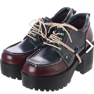 ヨースケ(YOSUKE)のIFさま ドットワンピと靴(ローファー/革靴)