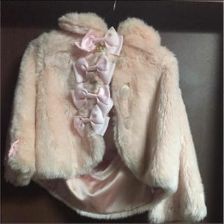 ベイビーザスターズシャインブライト(BABY,THE STARS SHINE BRIGHT)のBABY ピンク ファー リボン コート(毛皮/ファーコート)