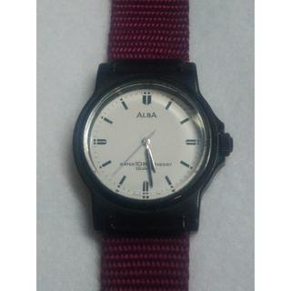 アルバ(ALBA)の値下げ 腕時計 ALBA アルバ クォーツ メンズ 中古 白紫(腕時計(アナログ))