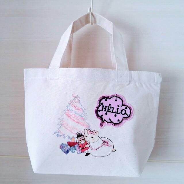 キャンバストート Sサイズ 【ネコリーナとくるみ割り人形 Bタイプ】 レディースのバッグ(トートバッグ)の商品写真