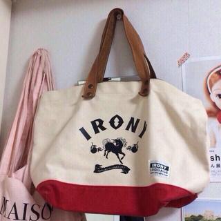 アイロニー(IRONY)の取手本革帆布バック(トートバッグ)