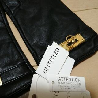 アンタイトル(UNTITLED)のアンタイトル やぎ革 ブラック 手袋(手袋)