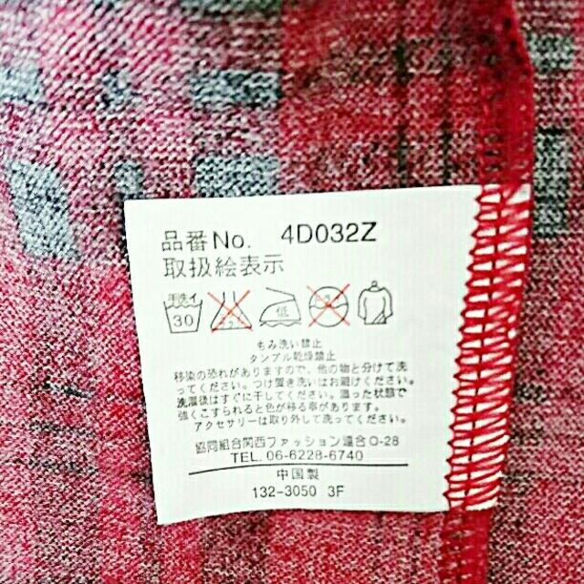 お値下げ!赤のチェック柄ワンピース レディースのワンピース(ミニワンピース)の商品写真