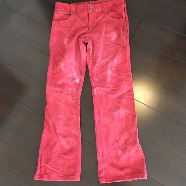 GIVENCHY(ジバンシィ)のアレクサンダーマックイーン ブリーチ加工ジーンズ メンズのパンツ(デニム/ジーンズ)の商品写真