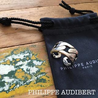 フィリップオーディベール(Philippe Audibert)の美品、送料無料、大人気 PHILIPPE AUDIBERT シルバー リング(リング(指輪))