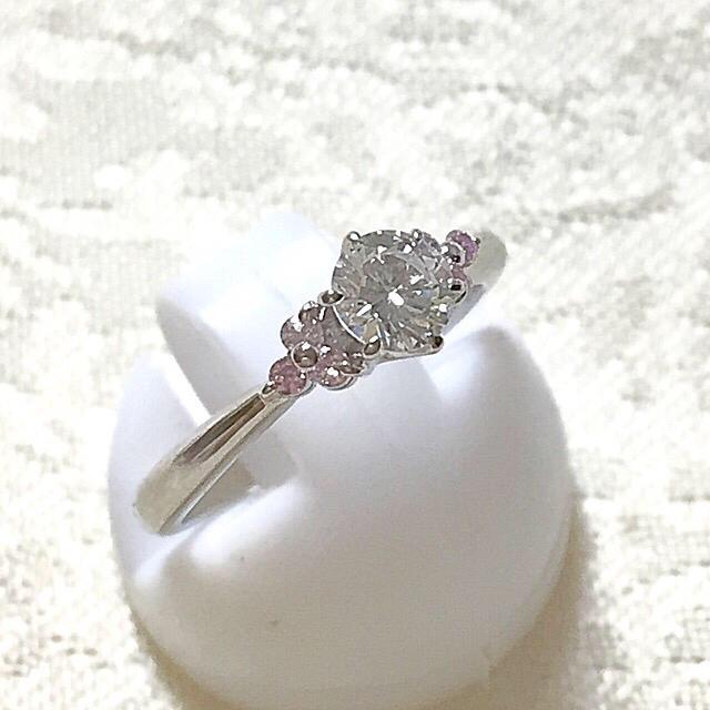 ギャグ様専用12/25日迄❣️プラチナ ダイヤ ピンクダイヤ リング レディースのアクセサリー(リング(指輪))の商品写真