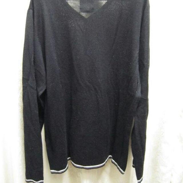 Tシャツ 長袖 無地 ブラック 黒 LL [bnl メンズのトップス(ニット/セーター)の商品写真