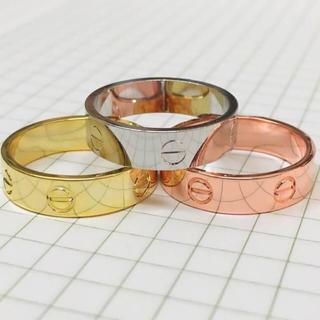 285  18K純金コーティング 艶あり、マイナ指輪リング(リング(指輪))
