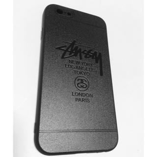 ステューシー(STUSSY)のstussy iPhone6/6sケース メタルグレー シリコン新品 送料無料(iPhoneケース)