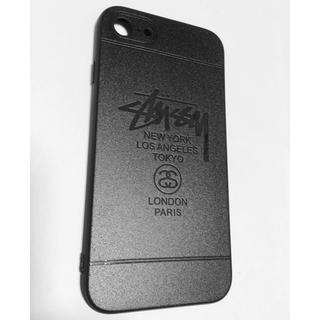 ステューシー(STUSSY)のstussy iPhone7専用ケース メタルグレー シリコン 新品(iPhoneケース)