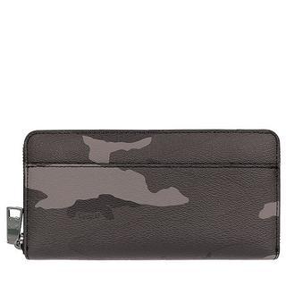 コーチ(COACH)の新品 COACH F75099グレーカモフラージュ長財布ラッピング対応(財布)