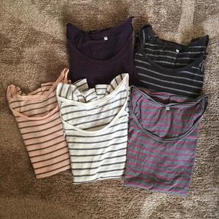 ムジルシリョウヒン(MUJI (無印良品))の2枚セット ☺︎ 無印良品 ボーダーTシャツ(Tシャツ(長袖/七分))
