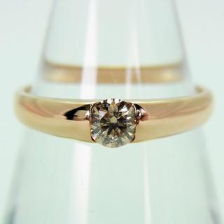 K18ピンクゴールド ブラウンダイヤモンド リング[f66-5](リング(指輪))