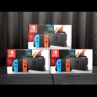 ニンテンドウ(任天堂)の新品・送料込 Nintendo Switch 本体 ネオン 3台セット(家庭用ゲーム本体)