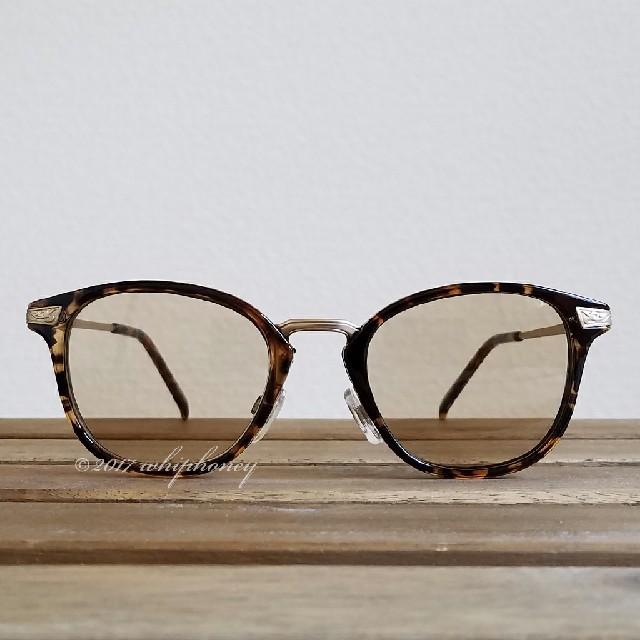 繊細ボストンウェリントンコンビだて眼鏡デミブラウンコンビライトスモークブラウン メンズのファッション小物(サングラス/メガネ)の商品写真