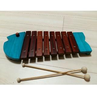 ボーネルンド(BorneLund)の(コテツさん専用)ボーネルンド おさかなシロフォン(木琴)青(楽器のおもちゃ)