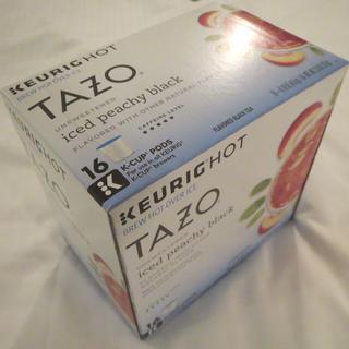 スターバックスコーヒー(Starbucks Coffee)のキューリグ × TAZO/スタバ/甘くないピーチフレーバーなアイスティー16pc(茶)